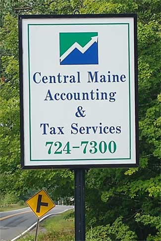 Central Maine Accounting Tax Services Sign